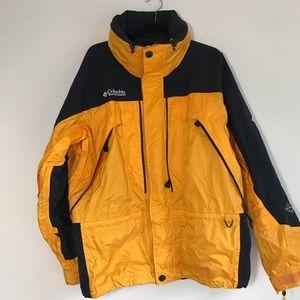 Columbia titanium ski jacket men's yellow Sz Large